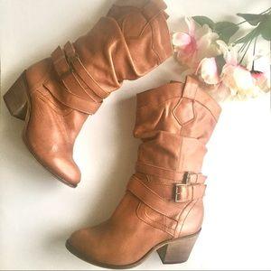 Aldo's Brown Mid-Calf Cowboy Boots Size 10